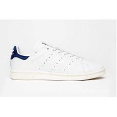 Adidas Smith белые с синей пяткой